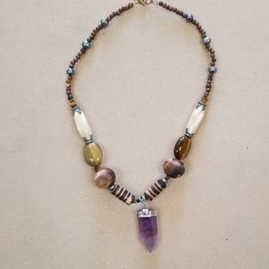 Made In Moon Jewelry - Victorian, Modern, Bohemian Amethyst Necklace